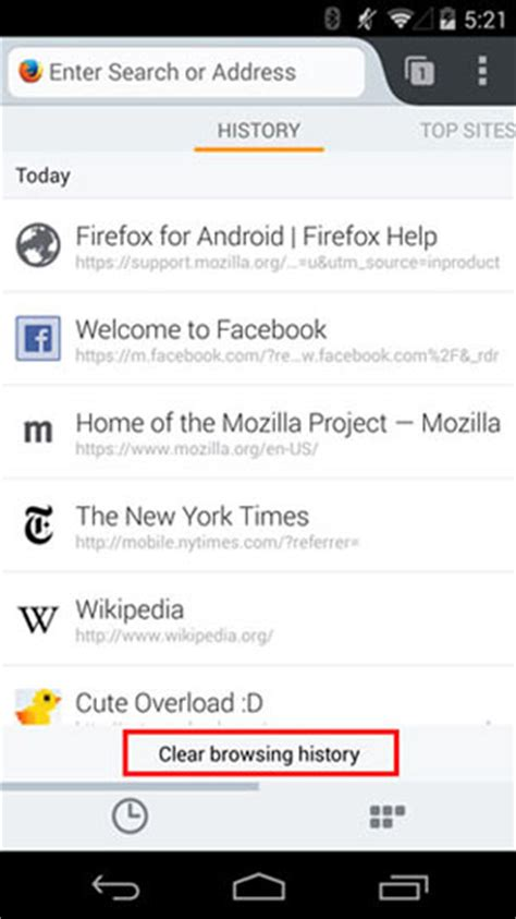 how to check history on android how to clear history on android