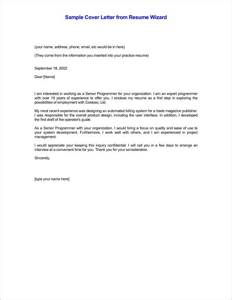 21289 exles of a resume cover letter sle cover letter for resume in email cover letter