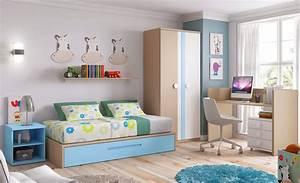 Lit Enfant Garcon : chambre b b gar on bc30 lit volutif avec gigogne ~ Farleysfitness.com Idées de Décoration