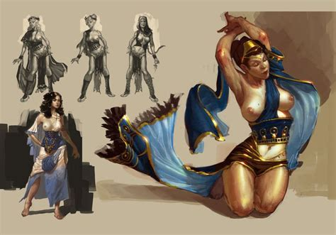 Poseidon Concubines Concept Art Resources Game Concept