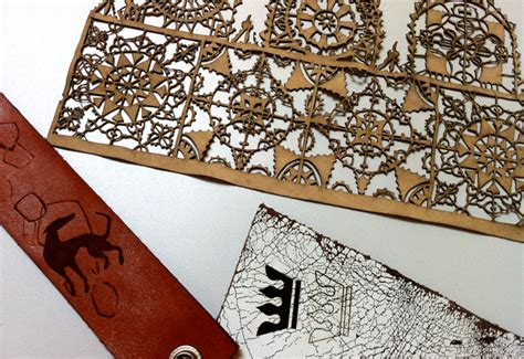 laser cutting shop leather