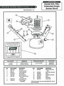 Wiring Diagram  35 Coleman Stove Parts Diagram