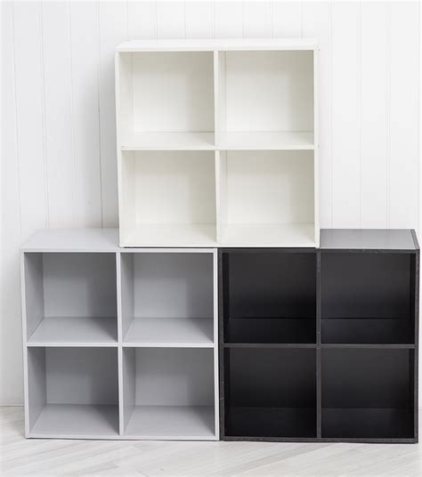 Stackable Bookcase Cubes by Four Cube Wooden Bookcase Storage Cube Stacking Shelving