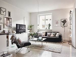 Departamento de 2 dormitorios con decoración escandinava