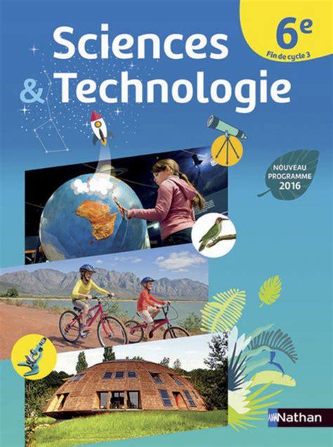 mon cahier de cuisine sciences et technologie 6e fin de cycle 3 livre de l