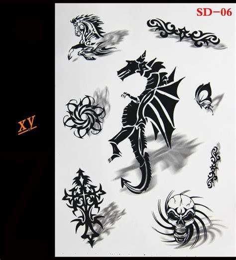 3d New Temporary Tattoo Woman Gold Flash Metal Black