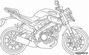 U0026quot Fz16 Motorbike Line Diagram U0026quot  Stock Image And Royalty