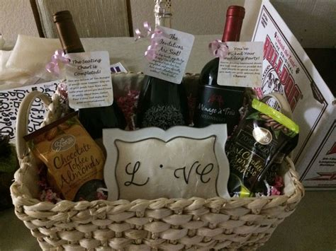 Engagement Party Gift Basket For A Great Couple