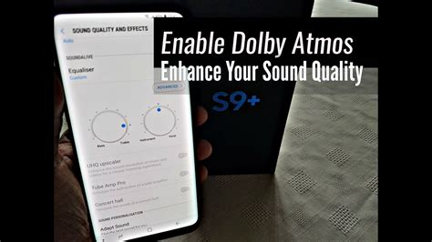 samsung galaxy s9 plus enable dolby atmos for better sound quality youtube
