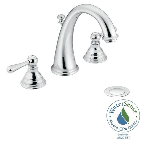 moen kingsley 8 in widespread 2 handle high arc bathroom faucet trim kit in chrome valve not
