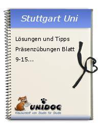 Lösungen Und Tipps Präsenzübungen Blatt 915
