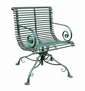Fauteuil Fer Forgé : fauteuil de jardin rotatif en m tal fer forg style grassin ~ Teatrodelosmanantiales.com Idées de Décoration