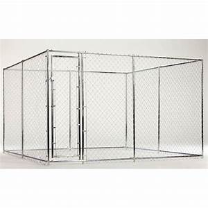 shop lucky dog 5 x 15 10 x 10 combo chain link box kennel With lowes dog kennels for sale