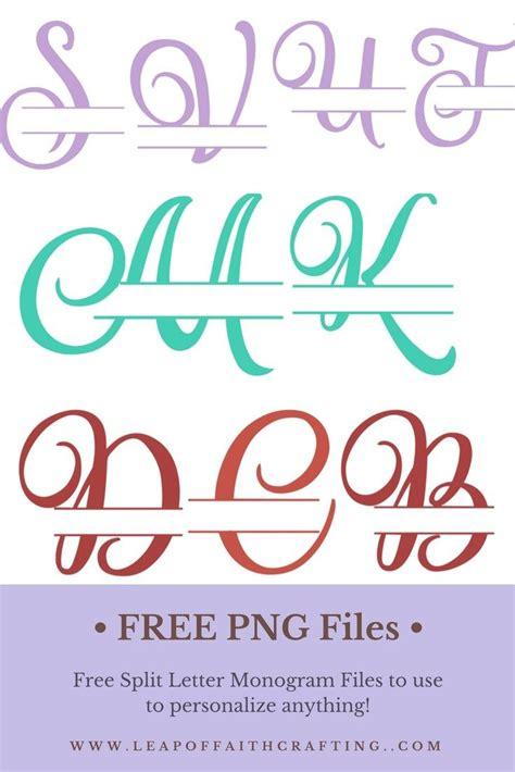 script split letter monogram  personalize  cricut monogram monogram letters