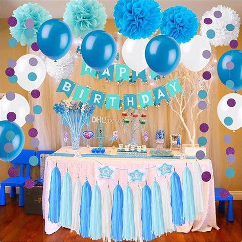 frozen theme white  blue party decorations