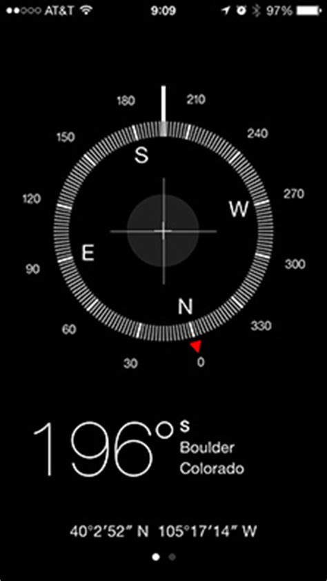compass app for iphone ios 7 compass on the level the mac observer