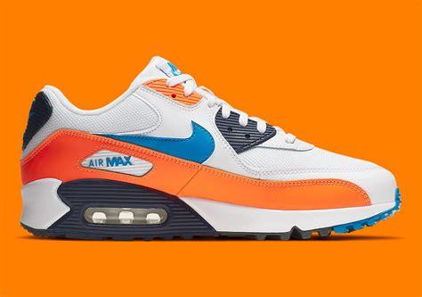 nike air max 90 orange blue aj1285 104 sneakernews