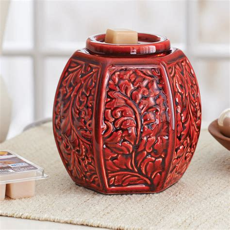 homes  gardens full size wax warmer red carved