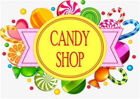 Toy Store Sign Template by Sweet Candy Shop Signs Vector Material Candy Shop