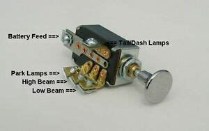 To A 38 Chevy Headlight Switch Wire Diagram by Headlight Dimmer Switch 4 Position With Chrome Knob