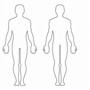 Blank Outline Of Human Body - Anatomy Organ