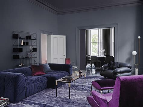 dulux  colour forecast reflect dark grey living room