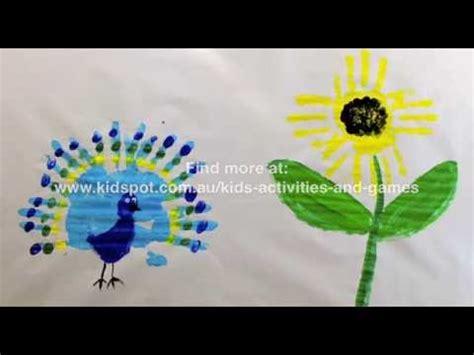 peacock  sunflower handprint art youtube