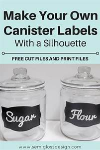 diy kitchen canister labels with a silhouette with free With canister labels printables