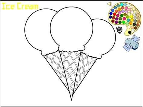 ice cream coloring pages  kids ice cream coloring