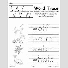 Letter W Words  Free Alphabet Tracing Worksheet Supplyme