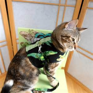 how to harness a cat alligator cat harness pet vest reversible by lifesruffboutique