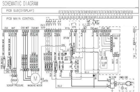 samsung washing machine motor wiring diagram samsung washing machine error code 3e removeandreplace