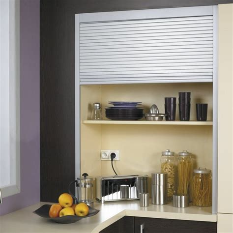 cache rideau cuisine aménager une cuisine ouvert rangement optimisé cuisine