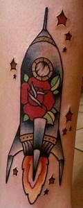 rocket ship tattoo   tattoo   Pinterest