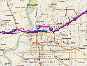 Map of I 40 Memphis Tennessee