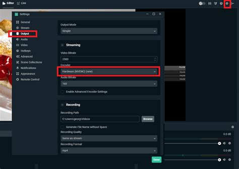 streamlabs quality obs settings output stream recording fps sound nvenc increase superb select under drop