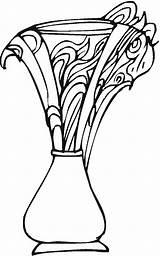 Vase Coloring Vases Pages Printable Pottery Adult Flower Flowers Simple Coloringpages Colorpagesformom Getcoloringpages Vase1 sketch template
