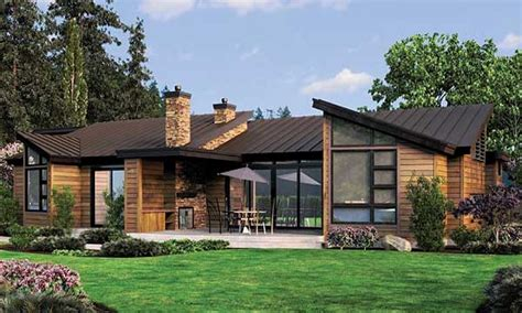 Contemporary House Plans by Simple One Story Houses Single Story Contemporary House