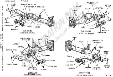 ford truck part numbers lights rear fordification com