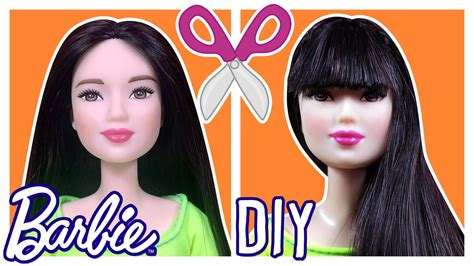 How To Cut Barbie Doll Hair Bangs