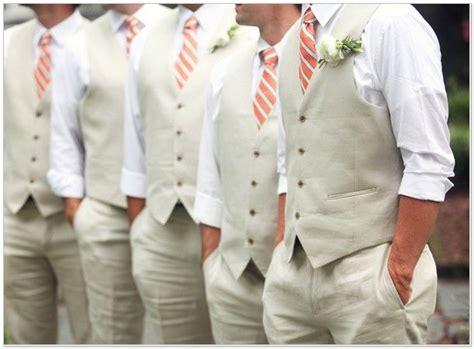 Latest Coat Pant Designs Grey Linen Beach Groomsman Suits