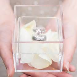 wedding ring box lucite wedding ring box