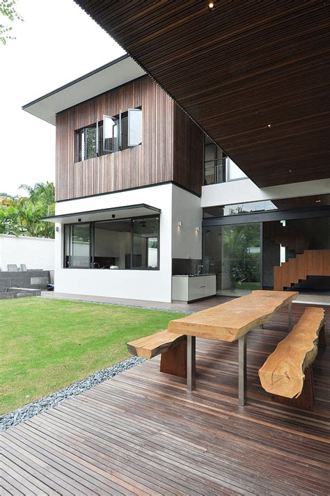 best terrace house design stylish bungalow inspired residence in singapore sunset terrace house freshome com