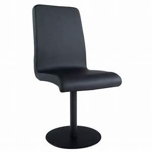 chaise design en polyurethane de couleur noire achat With salle À manger contemporaineavec chaise en couleur pas cher