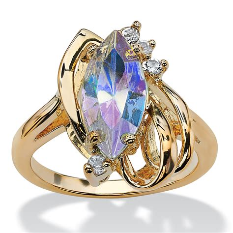 Marquisecut Aurora Borealis Crystal Cocktail Ring In 14k. Garnet Wedding Rings. Strawberry Brooch. Cushion Cut Stud Earrings. Modern Pendant. Tactical Watches. Gia Gemstone. Aquamarine Bangles. Love Bangle