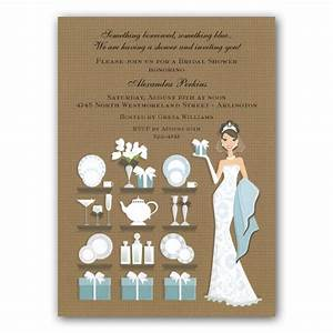 Brunette Gifts Bridal Shower Party Invitations | PaperStyle