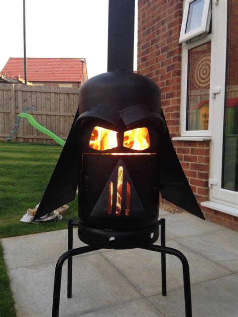 darth vader log burner  stateofthearc  etsy https