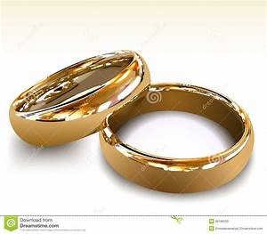 gold wedding rings vector illustration stock vector With wedding rings for male and female
