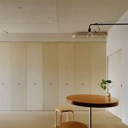Apartment Tokyo Kitchen Hidden Folding Doors Dezeen