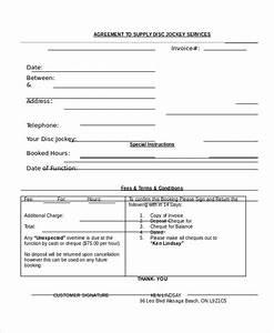 free dj invoice template denryokuinfo With printable dj invoice